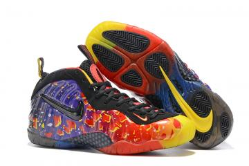 new style ddc07 51002 Nike Air Foamposite One Pro PRM Fire Black Red Purple Asteroid Men Shoes  616750-600