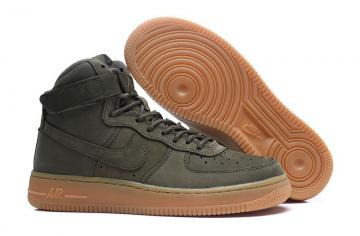 Nike Air Force 1 High WB GS Suede Medium Grey Black Gum Light Brown Medium 922066 002 Men's Women's Casual Shoes Sneakers