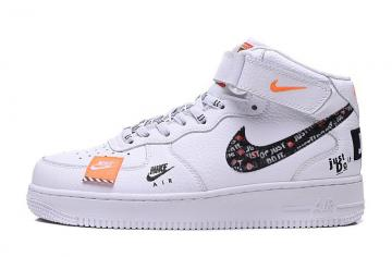 4bb82a8c1d34 Nike Air Force 1 07 LV8 JUST DO IT White Black Total Orange AR7718-100
