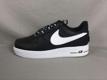 new style 6a03f 231c6 Nike Air Force 1 07 Lv8 NBA Black White Casual Shoes 823511-007