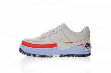 c9423341759d Nike Air Force 1 Jester XX SE Women Shoes Light Bone Crimson Blue AT2497-002