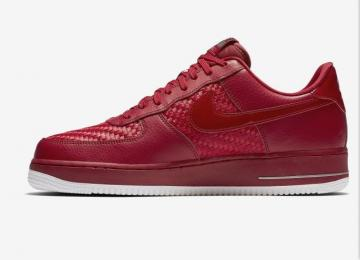 new product 29889 41feb Nike Air Force 1 Low 07 LV8 Red White Woven 718152-605