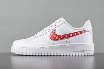 size 40 b65bd 1159e Nike Air Force 1 Low White Red Casual Shoes 923027-100