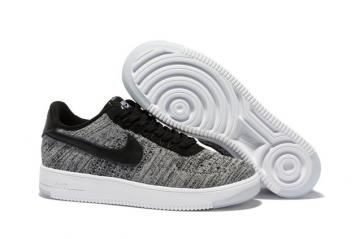 96e818253011 Nike Men Air Force 1 Low Ultra Flyknit Bright Grey Black LifeStyle Shoes  817419