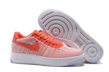 e6bdfef6d942 WMNS Nike AF1 Flyknit Low Air Force Atomic Pink White Casual Shoes  820256-600