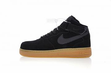 5474016ee5a775 Nike Air Force 1 Mid 07 Black Gum Casual Shoes AA0284-002
