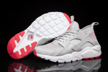 d44917e895421 Nike Air Huarache Run Ultra BR Breeze Men Runner Trainers Silver Light Grey  Red 833147