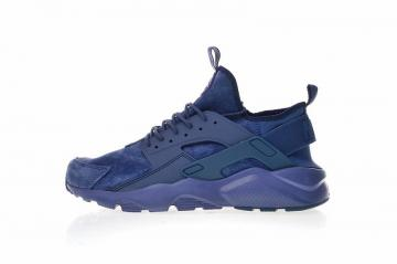new style 6f419 7fdea Nike Air Huarache Ultra Suede ID Navy Blue Athletic Shoes 829669-332