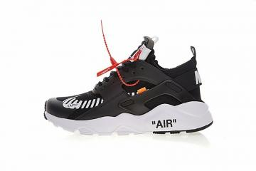 6c612d2311b52 Off White x Nike Air Huarache Ultra Black White Orange AA3841-001