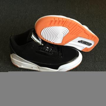 half off 60bf5 3af73 Nike Air Jordan III 3 Retro Men Basketball Shoes Black White Orange