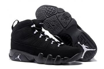 4c4a64f06adc Nike Air Jordan 9 Retro IX Anthracite White Black Shoes 302370 013 Unisex