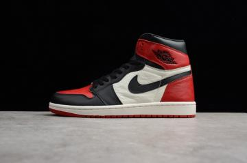 c7242e952185 Nike Air Jordan 1 Retro High OG Black White Red 555088-610