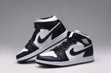 e580c618cf7 Nike Air Jordan I 1 Retro High Shoes Leather White Black 555088-010