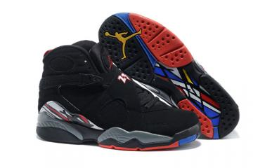 sports shoes a165c c2303 Nike Air Jordan Retro 8 VIII Black Red men women basketball Shoes