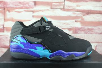 0d254c5fc14 Nike Air Jordan Retro 8 Low Aqua Black Grey Concord Men Basketball Shoes  305381-025