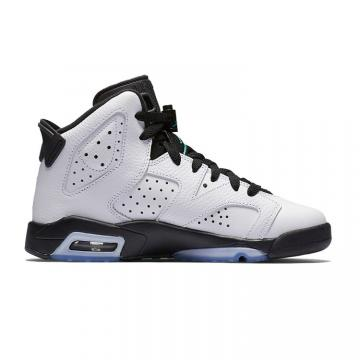 fb46eaa51692e Nike Air Jordan 6 VI Retro Black White green Women shoes 384665-122