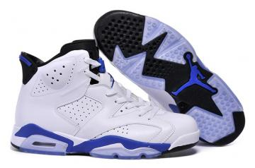 new styles 004a7 a1c10 Nike Air Jordan 6 VI Retro White LE Sport Blue Black 384664 107