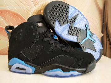 2975dcf61aa24 Nike Air Jordan VI 6 Retro Unisex Basketball Shoes Black White Blue 543390