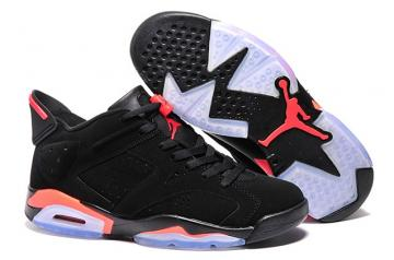 bd69c5201a24ec Nike Air Jordan 6 VI Low Black Infrared Mens Retro Basketball Men Shoes  304401 061