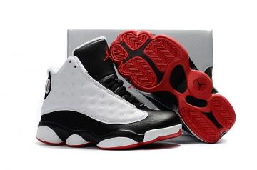 885e1ef40cf587 Nike Air Jordan XIII 13 Retro Kid white black red basketball Shoes 414571 -135