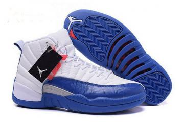 new concept d8f87 fee7d Nike Air Jordan 12 Retro XII French Blue White Silver AJ12 AJXII Shoes  130690 113
