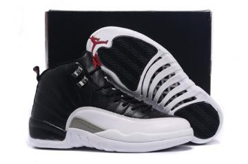 04092e1072b6b5 Nike Air Jordan 12 XII Retro Men Basketball Shoes White Black 130690 001