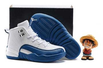 12259c51194fc3 Nike Air Jordan Retro 12 French Blue GS Kid 153265 113