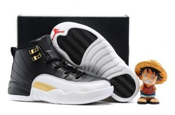 super popular 329e9 97cbd Nike Air Jordan Retro 12 The Master Black Metallic Gold White BG GS 130690  001