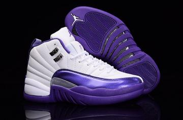 best sneakers 1550b f4027 Nike Air Jordan XII 12 Retro White Silver Purple Grapes Women Shoes 510815  112