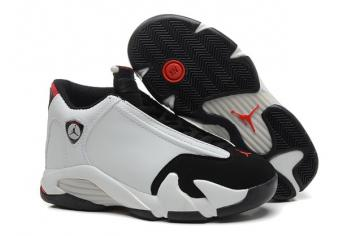 d215ca0af95fbd Nike Air Jordan XIV 14 Retro BG GS White Black Toe Grade School Gorl Women  Shoes 654963 102