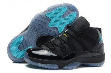 19449bf7093e27 Nike Air Jordan Retro XI 11 Black Gamma Blue Women Shoes 378038 006