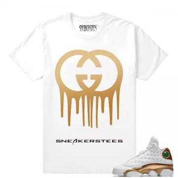 bffd0bc7ef1ad6 Match Air Jordan 13 DMP Gucci Drip White T shirt