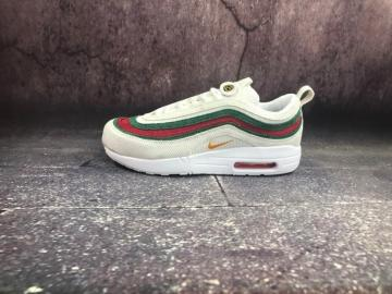 d29e530f2f Nike Air Max 1 97 VF SW Seanwotherspoon White Green Red AJ4219-163