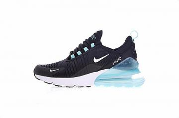 watch f6529 f5c59 Nike Air Max 270 Black White Light Blue Sneakers AH8050-013