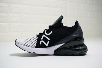 Nike Air Max 270 Flyknit Spectrum Navy Blue White Sneakers Men's Running Shoes