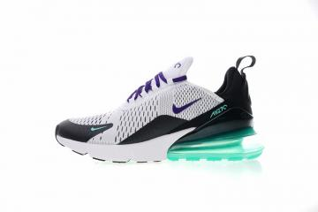2bdf797837 Nike Air Max 270 White Black Purple Green Casual Sneakers AH8050-103
