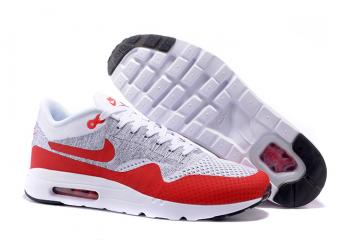 online store e1263 88fe6 Nike Air Max 1 Ultra Flyknit OG Men Women Running Shoes White Pure Platinum  Grey University Red 843384-101