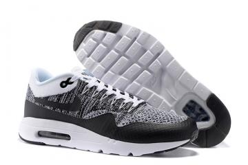 quality design 27f80 9acd6 Nike Air Max 1 Ultra Flyknit White Black Oreo NEW DS NSW Running Shoes HTM  843384-100