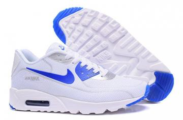 competitive price 2cc5e 486f0 Nike Air Max 90 Fireflies Glow Men Running Shoes White Royal Blue 819474-700