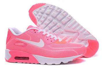 wholesale dealer 73b5e 274fc Nike Air Max 90 Fireflies Glow Women Running Shoes BR Pink White 819474-010