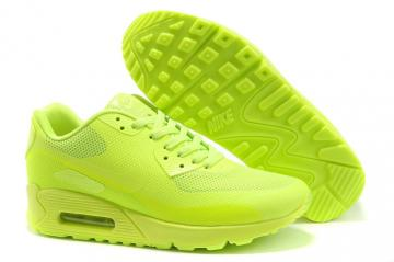 separation shoes 29250 d06c7 Nike Air Max 90 Hyp Prm All Flu Green Unisex Safari Running Shoes 454446-700