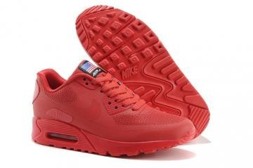 ebbc253e36 Nike Air Max 90 Hyperfuse QS Sport Red July 4TH Independence Day 613841-660