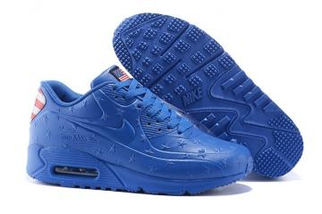 innovative design a5d03 c5429 Nike Air Max 90 VT USA Independance Day Men Shoes Royal Blue Dot 472489-064