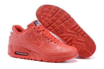 quality design e1b9b daba9 Nike Air Max 90 VT USA Independance Day Unisex Running Shoes ALl Red Dot  472489-062