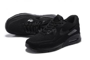 new style 99f6e f759c Nike Air Max 90 Ultra BR Breeze Triple Black Mens Women Running Trainers  725222-010