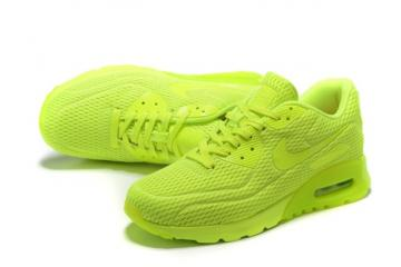 4d28162a46 Nike Air Max 90 Ultra BR Volt Neon Volt Lime Running Sneakers Shoes  725222-700