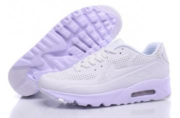 f855a835db58 Nike Air Max 90 Ultra Moire Triple White Men Running Shoes Sneakers  819477-111