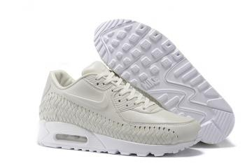 3f74a7a45d7a Nike Air Max 90 Woven Phantom White Men Women Training Running Shoes  833129-002