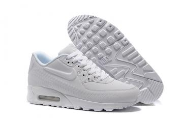 another chance 80545 837bf Nike Air Max 90 Woven White Running Shoes Unisex 833129