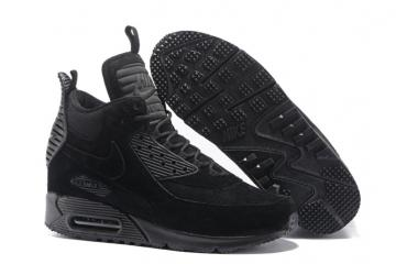 cda2fcd23147 Nike Air Max 90 Sneakerboot Winter Suede All Black 684714-016